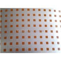 New style Orange square dots Aluminum foil HPL sheet/Silver brushed4*8