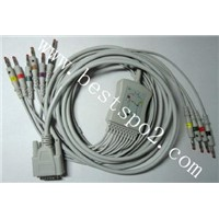 Nihon kohden 12 lead ECG cable and leadwires
