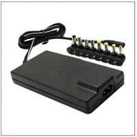 Notebook/Laptop AC Adapter, 12 to 24V Output Voltage, One Set Multi-connector Can Match, All Laptops
