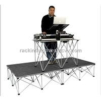 Outdoor mobile stage for convert