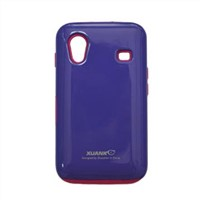 PC/Silicone Mobile Phone Case for Samsung S5830, with Bright Colors