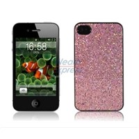 Pink Bling Plastic Snap-on Case Cover for iPhone 4G