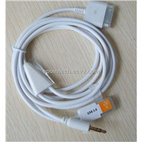 SB 3.5mm Aux Audio Data Transfer & Charger Cable Lead for Apple For iPod For iPhone