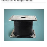 Shock absorber-buffer rubber for pile driver