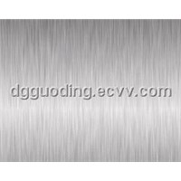 Silver brushed finish stainless steel films