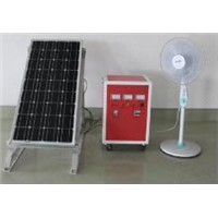 Solar Power System with Controller and Inverter