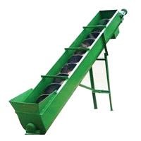 Spiral feeder for waste plastic