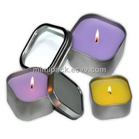 Square candle tin cans