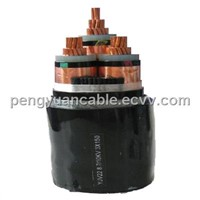 Steel  tape armored power cable