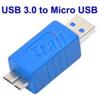 Super-Speed USB 3.0 A Male to Micro B Male Adapter Converter, USB to Micro USB Gender Changer
