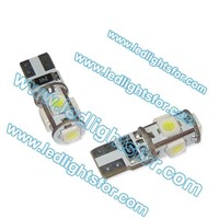 Top quality and hot selling car led light T10 194 W5W 5 LED SMD5050