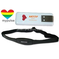 USB heart rate monitor with heart rate belt, HRM-2904