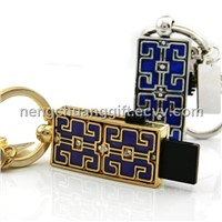 USB inlaid with crystal, customized logo