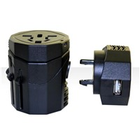 Universal travel adapter with USB Charging