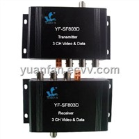 Video Coaxial Cable Transceiver with 3-channel Video, Data and Power Transmission for Monitor System