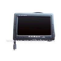 Video pipe inspection camera with 7 inch monitor