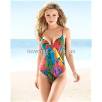 Watercolor Balconette Maillot One Piece