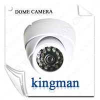 White Security Dome CCTV Camera 24 IR LED Dome Camera Conch