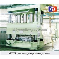 YJS71 sries hydraulic press for glass febil reinforces plastic product