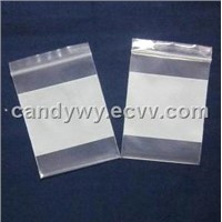 Ziplock Bag with White Block