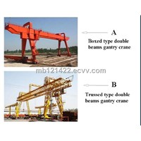 box/truss structure double girder crane,double beam gantry crane