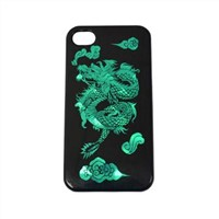 case for iPhone 4/4S, dragon pattern, electroplating laser pattern, Elegant, Personal