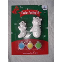 christmas plaster paint kit