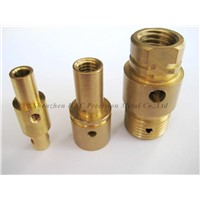 CNC machining copper connect  of BNC connect also brass pipe fitting with high-tensile strength