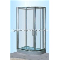 corner 8mm tempered glass shower doors with tray (ZY-615L/R)