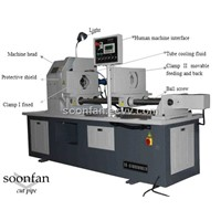cut-off machine by rotate head with lathe tool