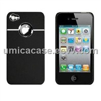 iPhone 4G/4S Plated and rubberized PC case