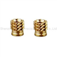 Knurling nuts with polished and plating