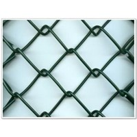 plastic coated chain link fence(factory)