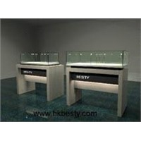 red glossy color watch showcase and jewelry counter display showcase