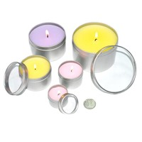 round candle metal tin boxes
