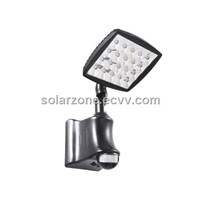 solar security lights with PIR motion sensor, ABS material