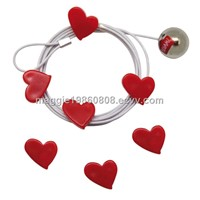 Supply Magnetic Photo Frame Rope, Steel Cable Magnetic Photo Holder, Magnetic Picture Frame Rope