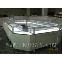 white glossy diamond display showcase and jewelry display showcase with high power led lights