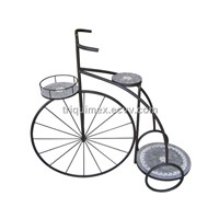 Bicycle wrought iron flower pot holder