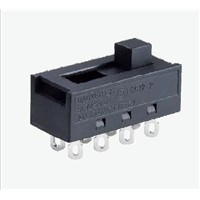 Electrical 10A 250Vac T85 Slide switches with Double poles and 2-5 ways