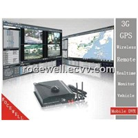 3G GPS Remote 4CH Realtime Monitor Wireless Surveillance System Track Mobile DVR (RC-8004H3C)