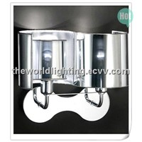 BL50819-Chrome Metal Bathroom Vanity with 2 Lamps