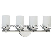 BL6003-Chrome Metal Stand Glass Cover Modern Bathroom Vanity Light with 4 Bulbs