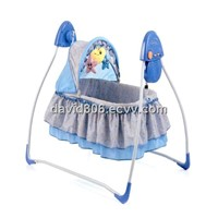 Baby Swing cradle with canopy and plush toys