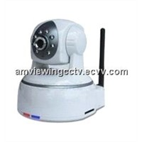 H.264 & MPEG4 Plug & Play Wireless Night Vision PTZ IP Camera, Digital Zoom, With IR-Cut