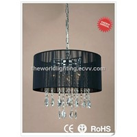 Classical Modern Crystal Chandelier with Black Fabric (MCC9262-3+1P-BK)