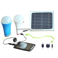 Multifunction portable solar led light bulb with chargerSolar panel led bulb