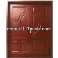PVC&MDF double casement exterior door (YS-D654)