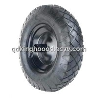 "Rubber wheel,Pneumatic wheel,Wheelbarrow and Cart tire 16""x4.00 - 8"