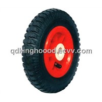 "Rubber wheel,Pneumatic whhel,Hand cart wheel ,Hand trolley wheel8""x250-4"